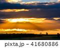 美瑛 風景 朝日の写真 41680886