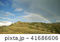 Double rainbow over the mountain 41686606