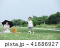 サッカー ピクニック 公園の写真 41686927