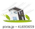 家、一軒家:災害、強風、台風 41693659