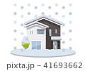 家、一軒家:災害、大雪 41693662