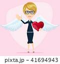 天使 ハート ハートマークのイラスト 41694943