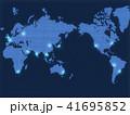 ビジネス グローバル 世界地図のイラスト 41695852