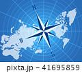 ビジネス グローバル 世界地図のイラスト 41695859