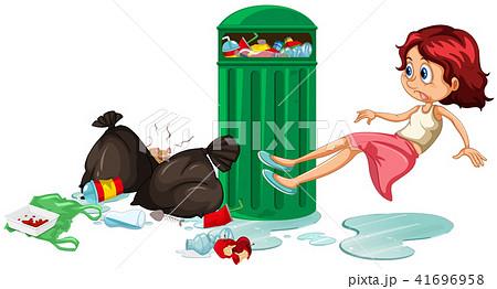 A Girl Slip on the Floor 41696958