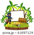 海賊 宝 宝物のイラスト 41697129