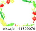 野菜 夏野菜 フレームのイラスト 41699070