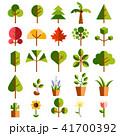 植物 木 グリーン ナチュラル アイコン セット 41700392