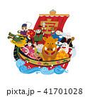 亥年 宝船 船のイラスト 41701028