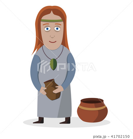 Woman in national dress. Indo-Europeans. National clothes. Vector illustration. 41702150