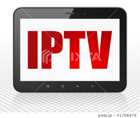 Web design concept: Tablet Pc Computer with IPTV on display 41706979