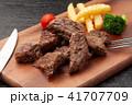 カットステーキ ステーキ 牛肉の写真 41707709