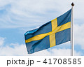 Swedish flag waving in the wind 41708585