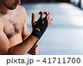 Boxer Makes Bandages on Fists 41711700