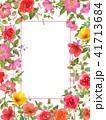 花 薔薇 フレームのイラスト 41713684