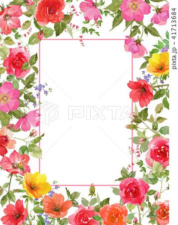 薔薇フレーム 41713684