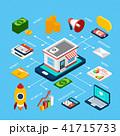 インフォグラフィック デジタル マーケティングのイラスト 41715733