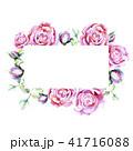 フローラル ピンク ピンク色のイラスト 41716088