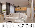 3d render Interior design in Scandinavian style, living room and kitchen 41717441