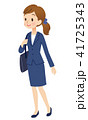 女性 スーツ ビジネスウーマンのイラスト 41725343