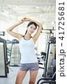 運動器具 若い女性 若い女の写真 41725681