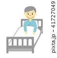 患者 入院 人物のイラスト 41727049