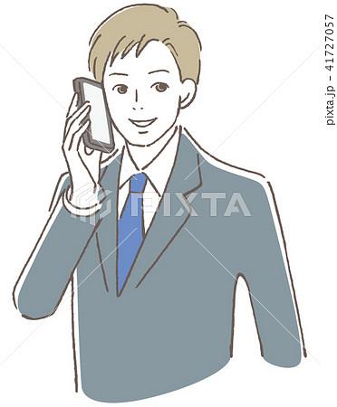 携帯で話す男性  41727057