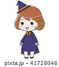 ハロウィン 魔女 仮装のイラスト 41728046