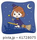 ハロウィン 魔女 仮装のイラスト 41728075
