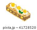 白バック 食べ物 スイーツのイラスト 41728520