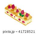 白バック ケーキ スティックケーキのイラスト 41728521