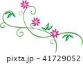 花とつるの植物模様 41729052