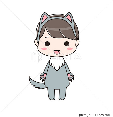 オオカミの仮装をした男の子 41729706