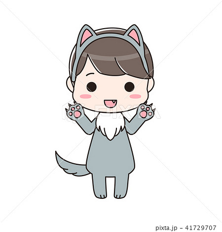 オオカミの仮装をした男の子 がおー 41729707