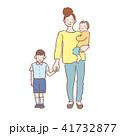 子育て 母親 親子のイラスト 41732877