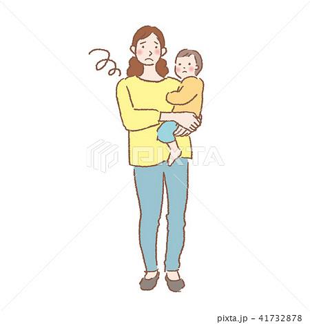 親子 赤ちゃん 抱っこ イラスト 41732878