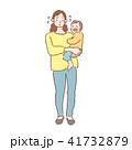 母親 人物 親子のイラスト 41732879