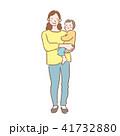 母親 人物 親子のイラスト 41732880