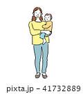 母親 人物 親子のイラスト 41732889
