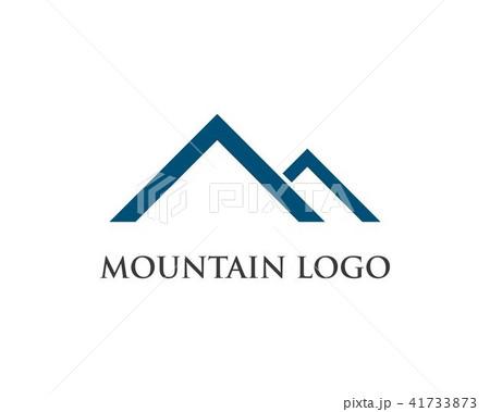 mountains logo templateのイラスト素材 41733873 pixta