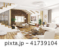 Interior of modern house 3d rendering 41739104
