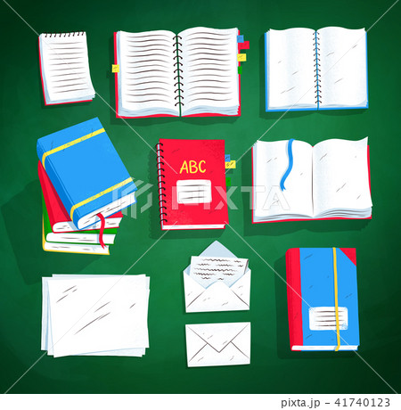 Top view set of books and notepads 41740123