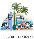 サーフィン 波乗り 車のイラスト 41740571