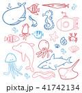 海の生き物 海の生物 海洋生物のイラスト 41742134