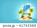スマホ スマートフォン 景色のイラスト 41743368