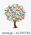 樹木 樹 ツリーのイラスト 41745730