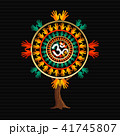 Yoga tree concept with om calligraphy symbol 41745807