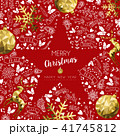 Merry christmas and new year greeting card 41745812