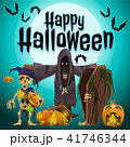A poster on the theme of the Halloween holiday. Vector illustration. 41746344