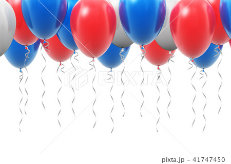 Background with color inflatable air balloons 41747450